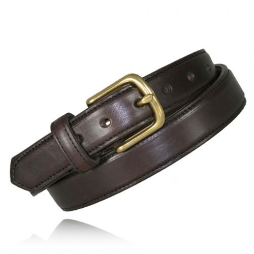 Boston Leather 1 1/4 Feather Edge Dress Belt 6426-1-42
