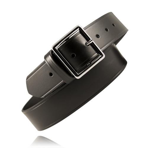 Boston Leather 1 3/4 Garrison Belt 6505-1-34 Black Plain Nickel 34
