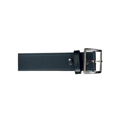 Boston Leather 1 3/4 Garrison Belt 6505-1-48-GLD Black Plain Brass 48
