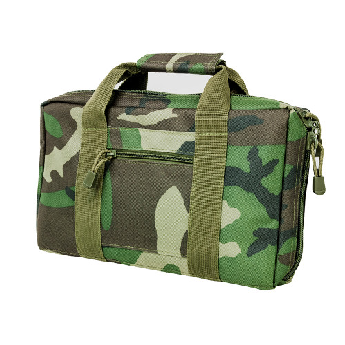NcStar Discreet Pistol Case 2 Padded Compartments Woodland Camo CPWC2903