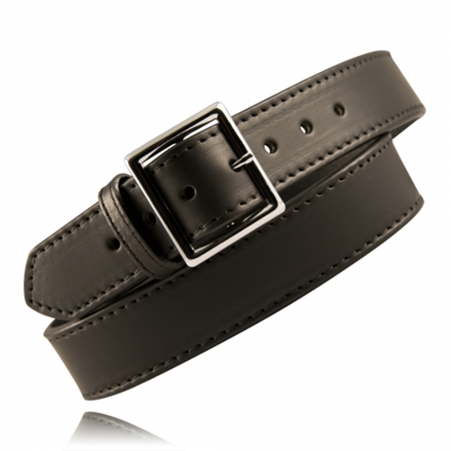 Boston Leather 1 3/4 Stitched Garrison Belt 6505ST-1-34 Black Plain Nickel 34