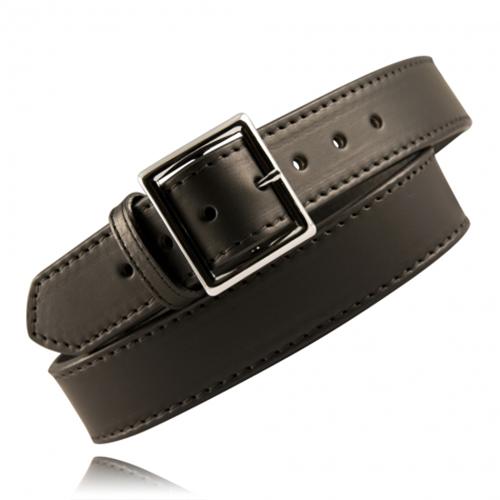 Boston Leather 1 3/4 Stitched Garrison Belt 6505ST-3-40 Black Basket Weave Nickel 40