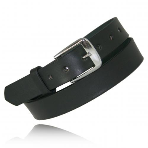 Boston Leather 1 1/4'' No Lines Off Duty Belt 6580NL-1-28 Black Nickel 28
