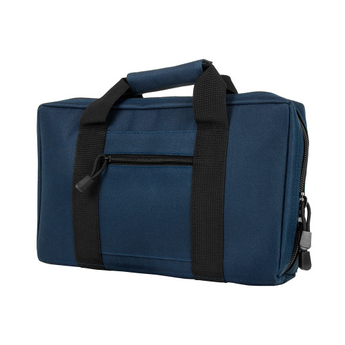 NcStar Discreet Pistol Case 2 Padded Compartments Blue Black Trim CPBL2903