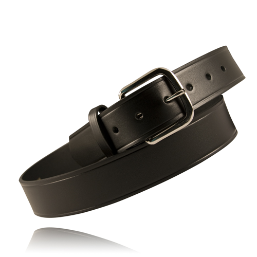 Boston Leather 1 1/2in. Off Duty Belt (American Value Line) 6606-1-34BU Black Plain U-Brass 34