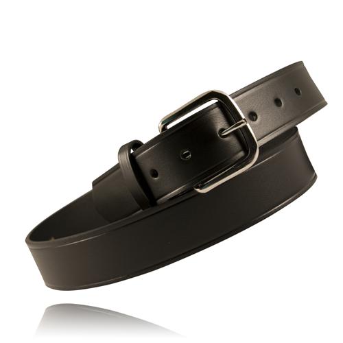 Boston Leather 1 1/2in. Off Duty Belt (American Value Line) 6606-1-54BU Black Plain U-Brass 54