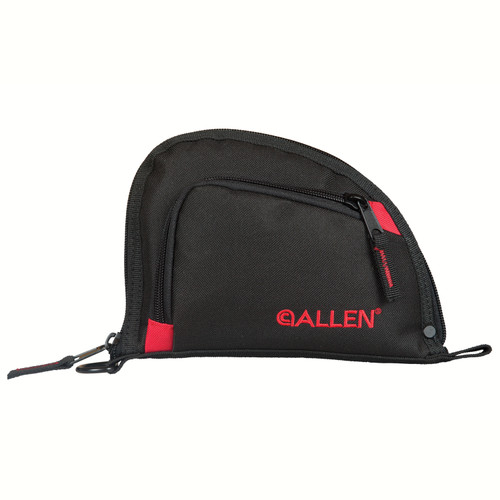 Allen Cases Auto-Fit Compact Handgun Case 7in. Black/Red 7707