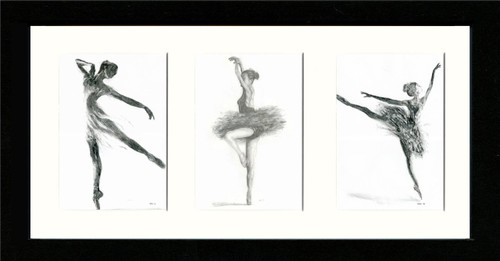 Black Framed Triptych (Three 4x6 inch prints)