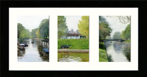 Black Framed Triptych (Three 4x6 inch prints)