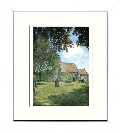 White Framed Print 8x10inch