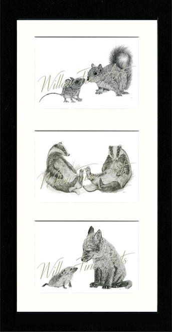 Black Framed Triptych (Three 6x4 inch prints)
