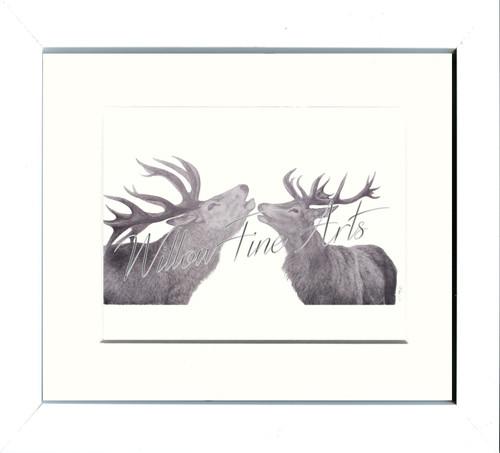 White Framed Print (Medium)