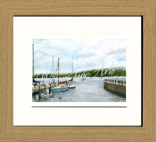 Oak Effect Framed Print (Medium)
