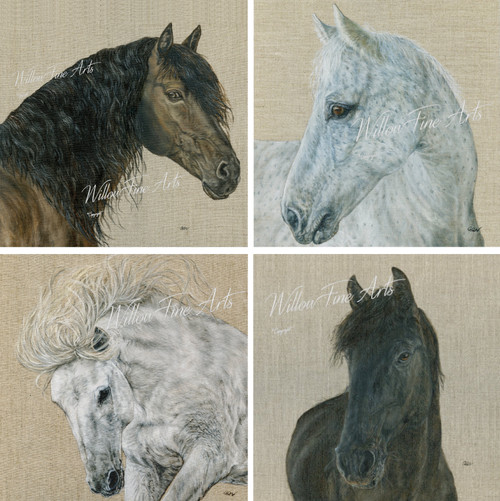 "Stretched Canvas Quartet (4 Individual 8""x8"" canvases)"