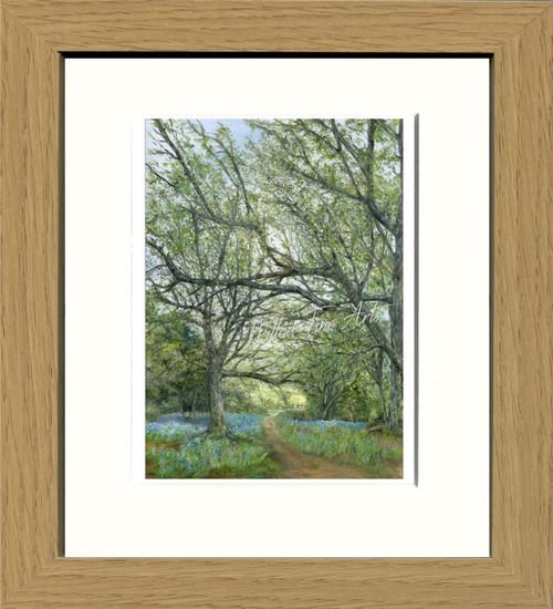 Oak Effect Framed Print