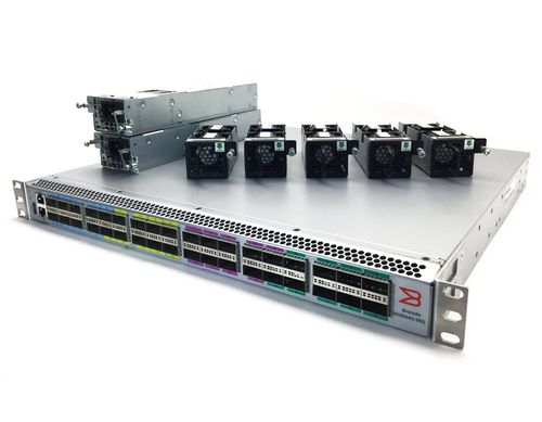 Side view of 6940-36Q QSFP+ ports Switches