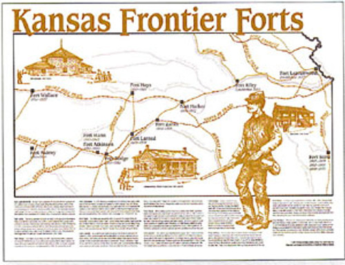 llustrated Map of Kansas Frontier Forts