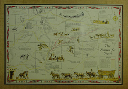 Illustrated Map of the Santa Fe Trail