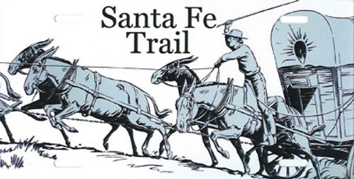 Santa Fe Trail Aluminum Car Tag
