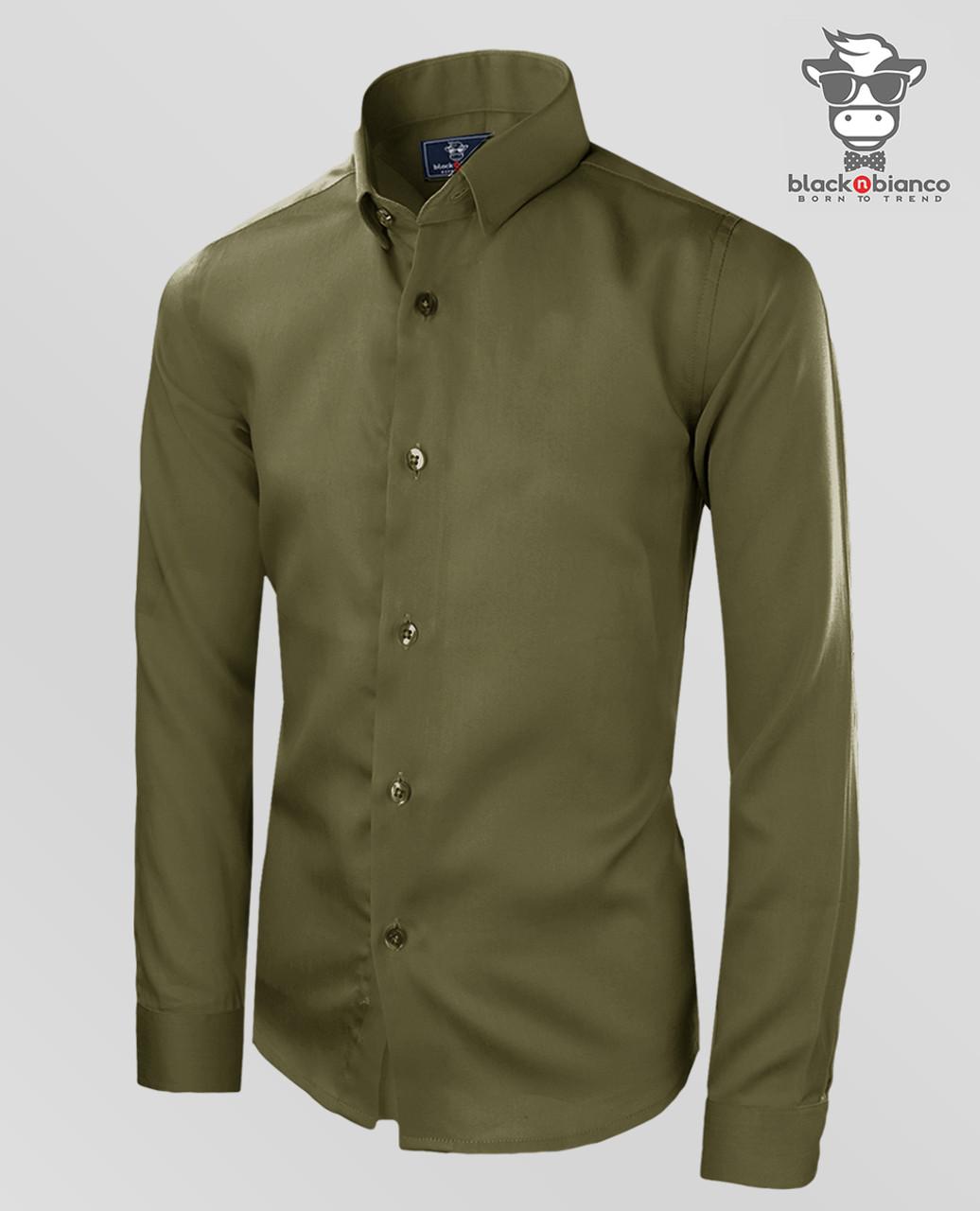 NEW BOYS Light Olive LONG Sleeve Dress Shirt 4~20 ALL SIZES