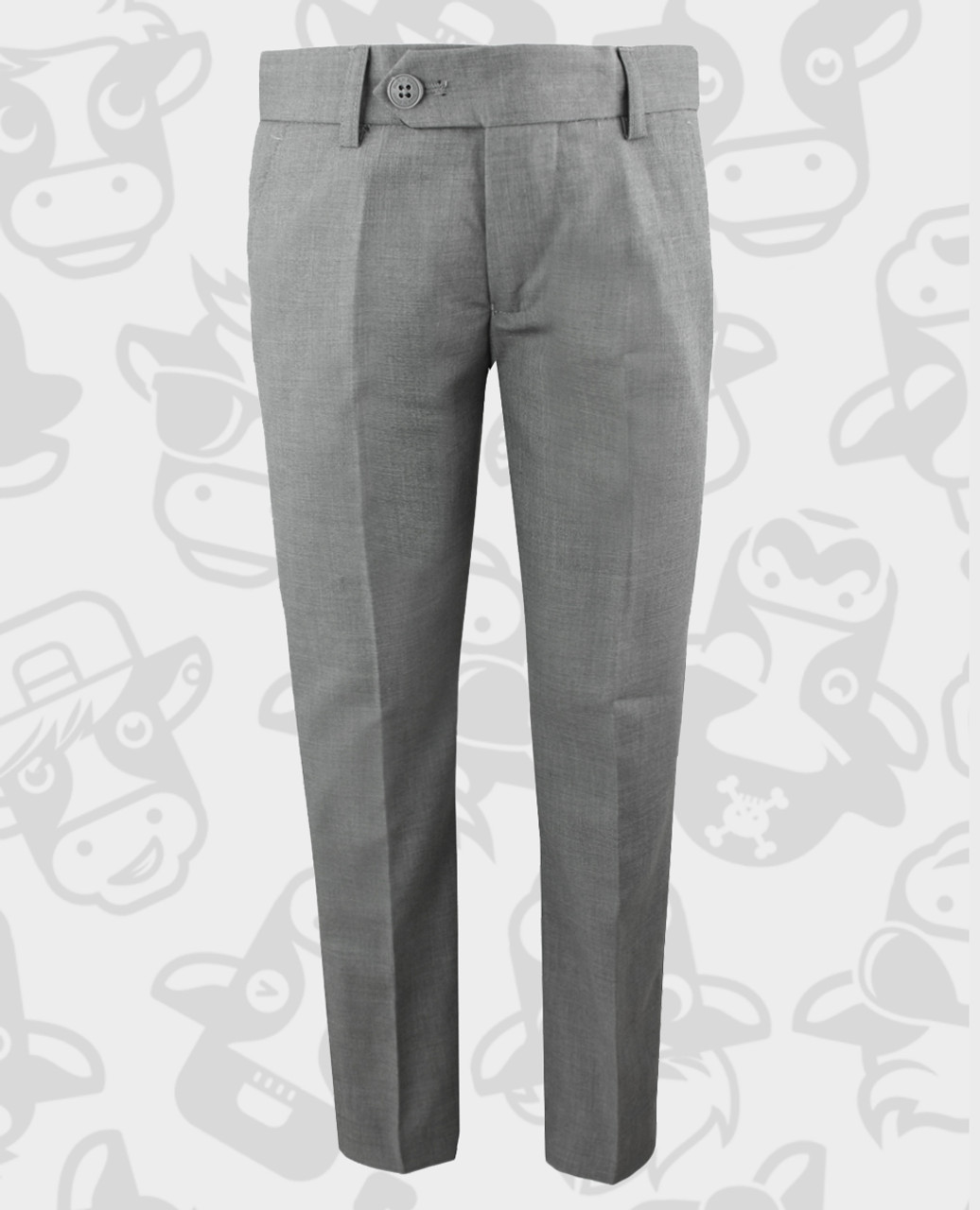 c14bc83d13492d Black n Bianco First Class Slim Fit Flat Front Trousers in Rustic Gray