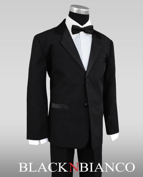 iGirlDress Baby//Toddle//Boys Ivory Black Navy Jacket Pants Shirt Bowtie Tuxedo Ring Bearer Suit