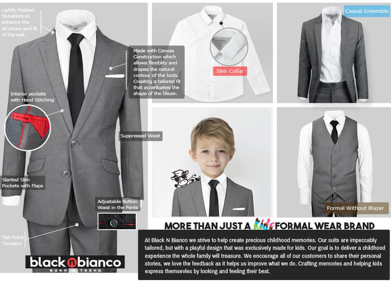 boys size 7 tone on tone Black Stripe Details about  /Black Tuxedo Coat and pant by Raffinati