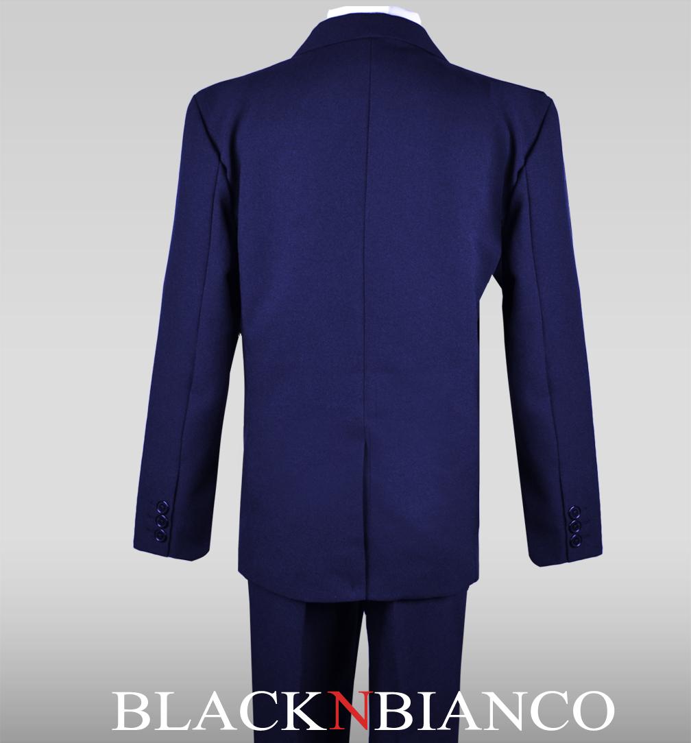 Tie Vest Boys Pinstripe Suit Three Button Kids Outfit Pants Includes Shirt