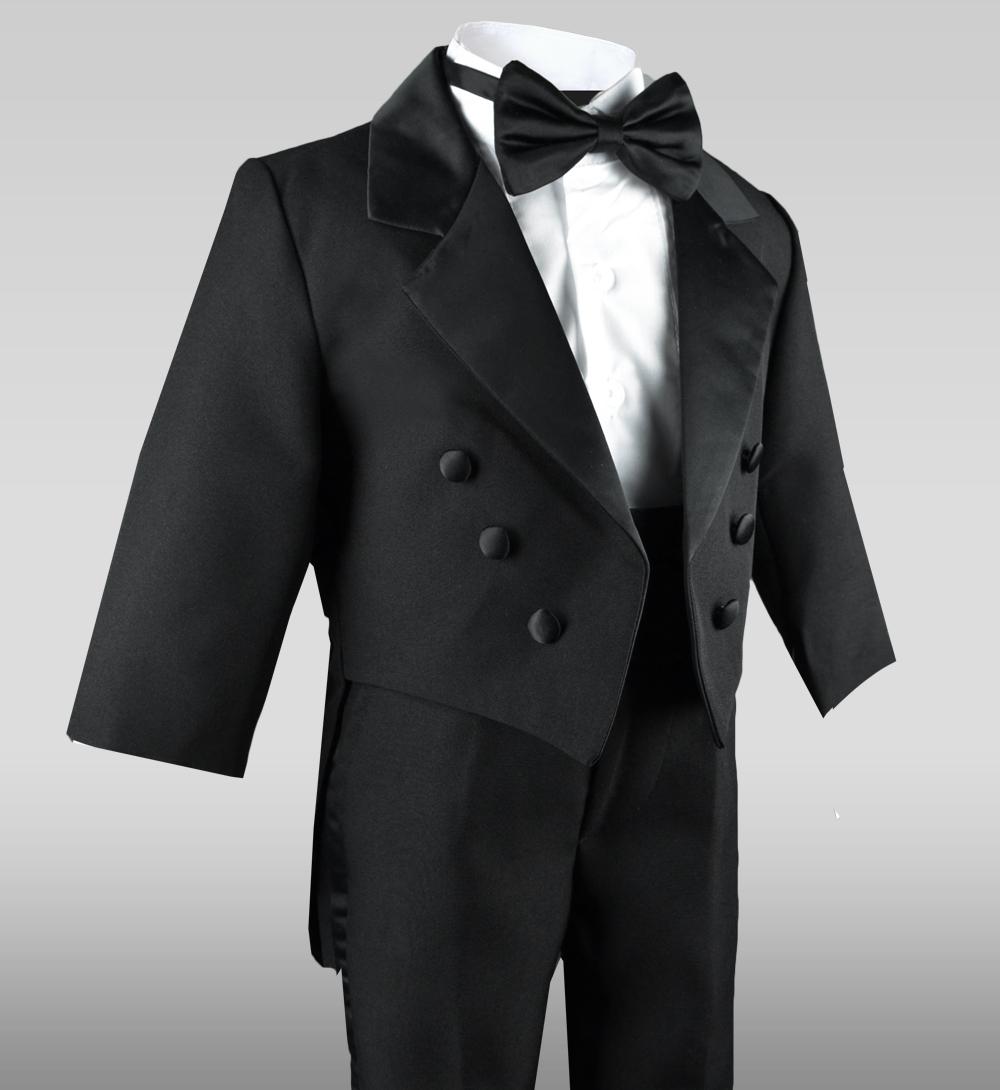 New Infant  Black Tuxedo  w// Tails Size Small 3-6 mo