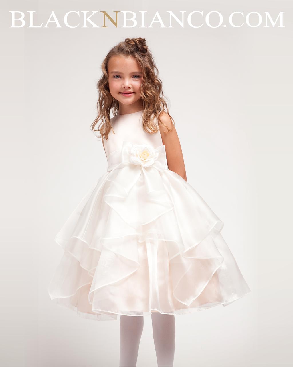 6abd8e287 Ivory Flower Girl dress with with Ruffled Organza Ivory Flower Girl Skirt  ...