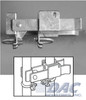 "Commercial Strong Arm Latch for 1-5/8"" or 2"" Gate Frames - Galvanized"