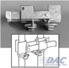 Residential Strong Arm Double Drive Gate Latch w/ Line Art Drawing
