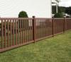Bufftech Baron Fence with Brazilian Blend Select Cedar Finish
