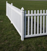 Bufftech Rothbury Vinyl Picket Fence Sections - Posts & Caps Sold Separately