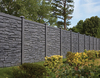 Bufftech Allegheny Molded Vinyl Fence in Black Granite