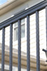 Hammered Balusters on American Series Railing from Key-Link - Closeup