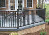 Black Key-Link Arabian Level Railing Sections w/ Square Balusters