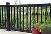 Key-Link Lancaster Series Aluminum Railing on an Outdoor Patio