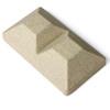 5 x 5 Beige Granite Inline Double Cap for Bufftech Allegheny & Sherwood Molded Fence Styles