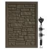 Dark Brown Granite Bufftech Allegheny Swing Gate
