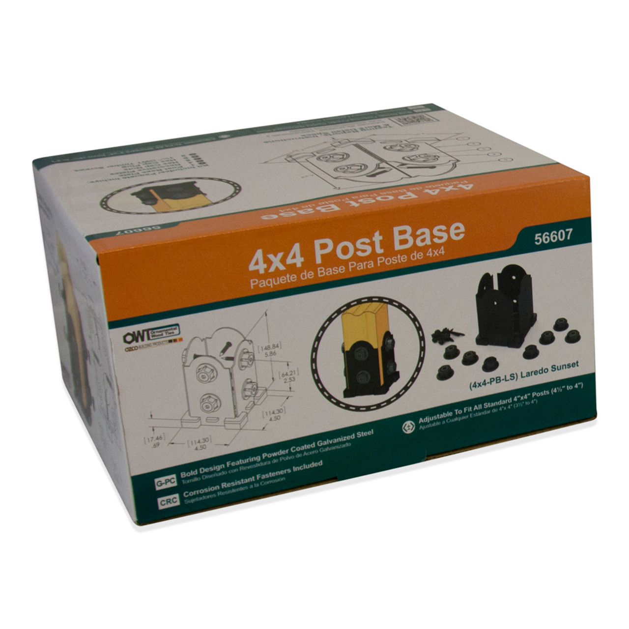 Laredo Sunset Post Base Kit by OZCO Ornamental Wood Ties - Multiple Sizes Available