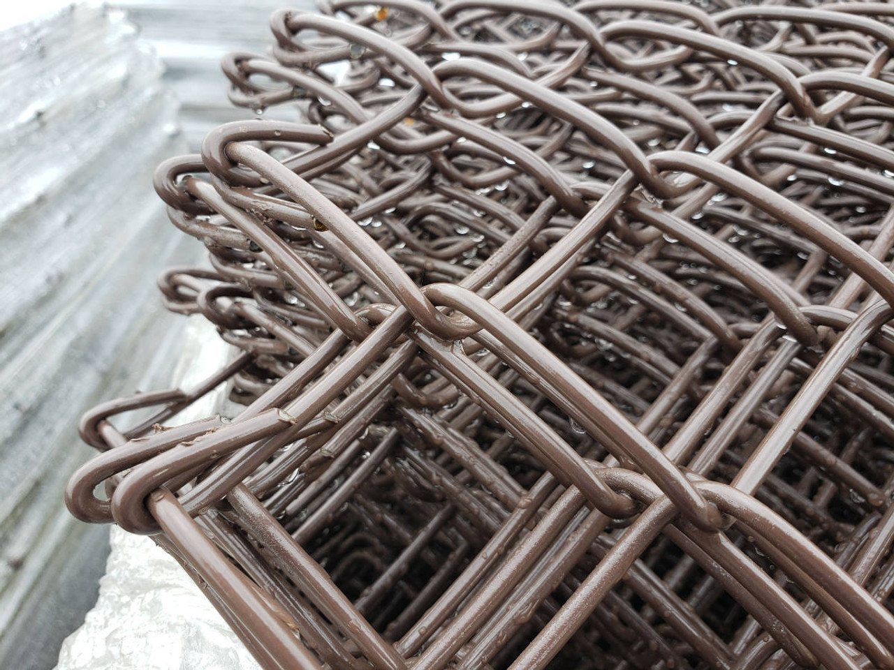 Closeup of Extruded & Bonded Chain Link Fabric