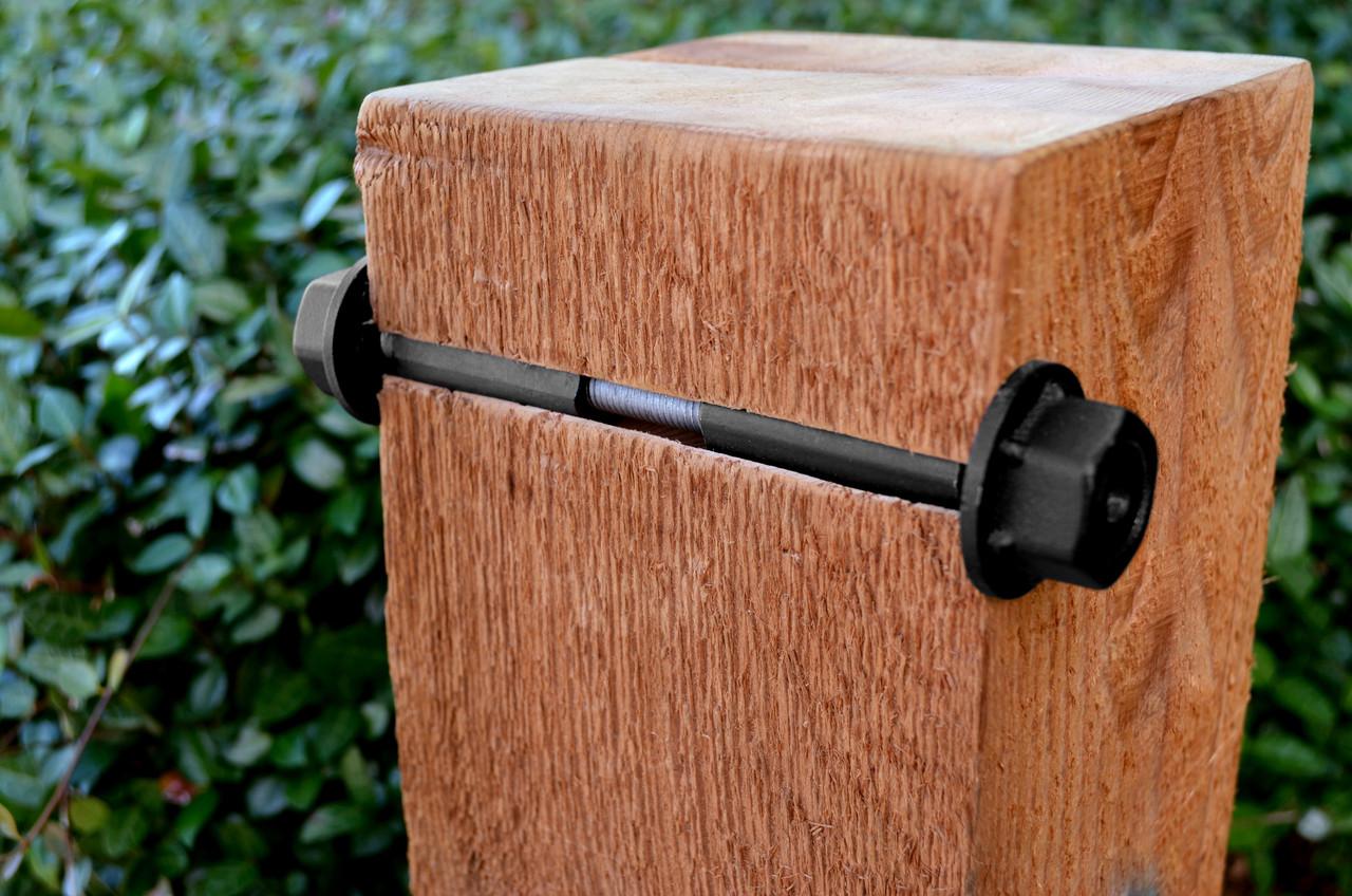 """OZCO OWT 3/4"""" Timber Bolt Installation Cutaway"""