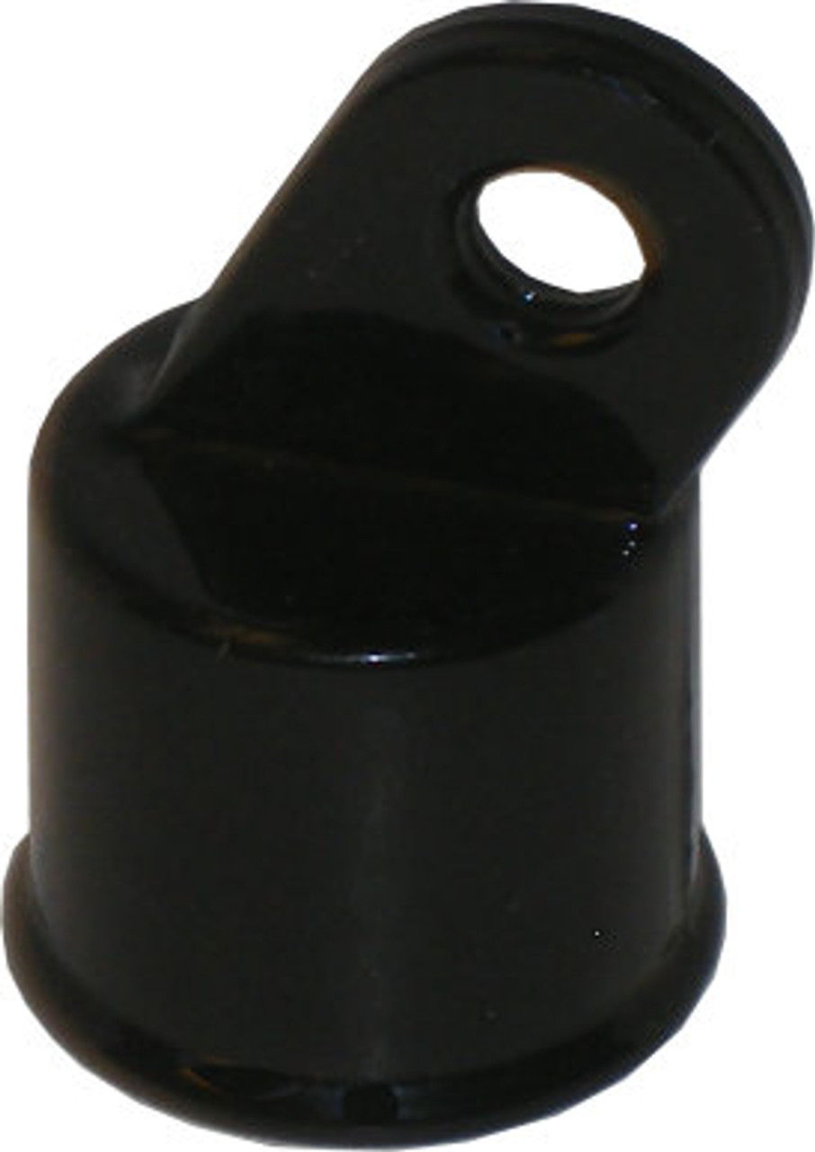 Black Aluminum Rail End Cap for Residential Chain Link Fencing