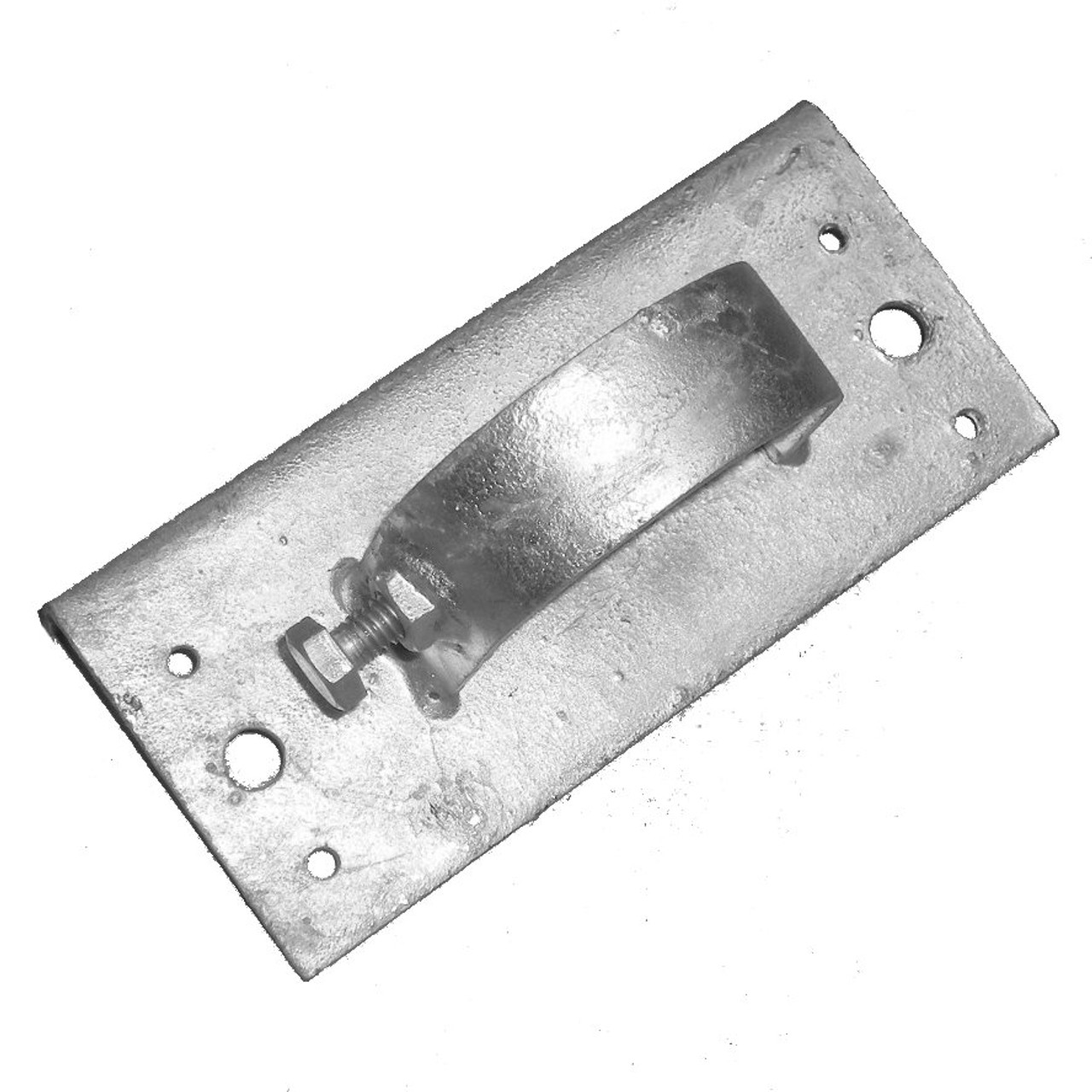 Wood to Metal Line Post Adapter - Galvanized