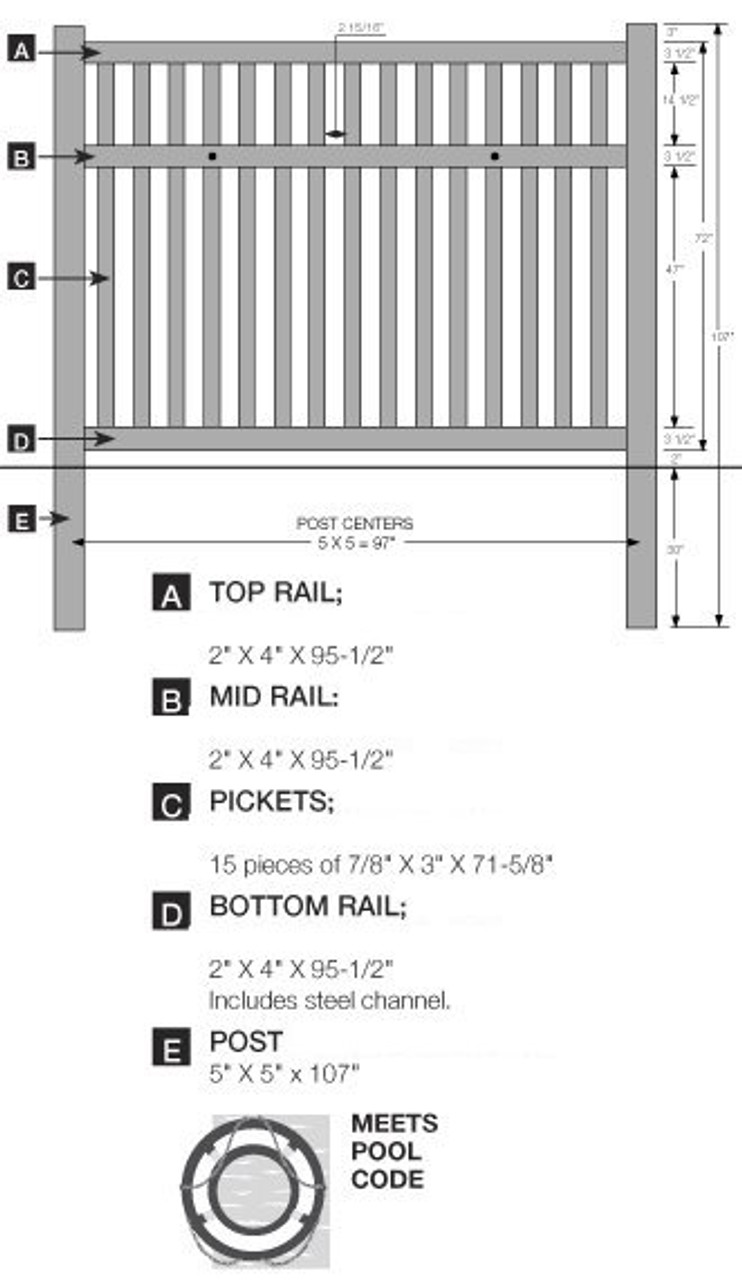 6' Bufftech Baron Fence Specifications