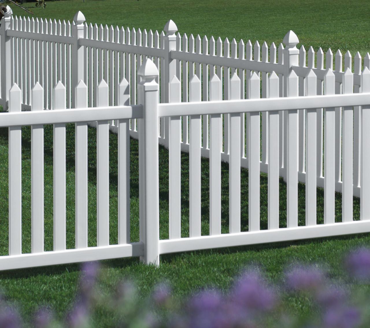White Bufftech Danbury Vinyl Fence