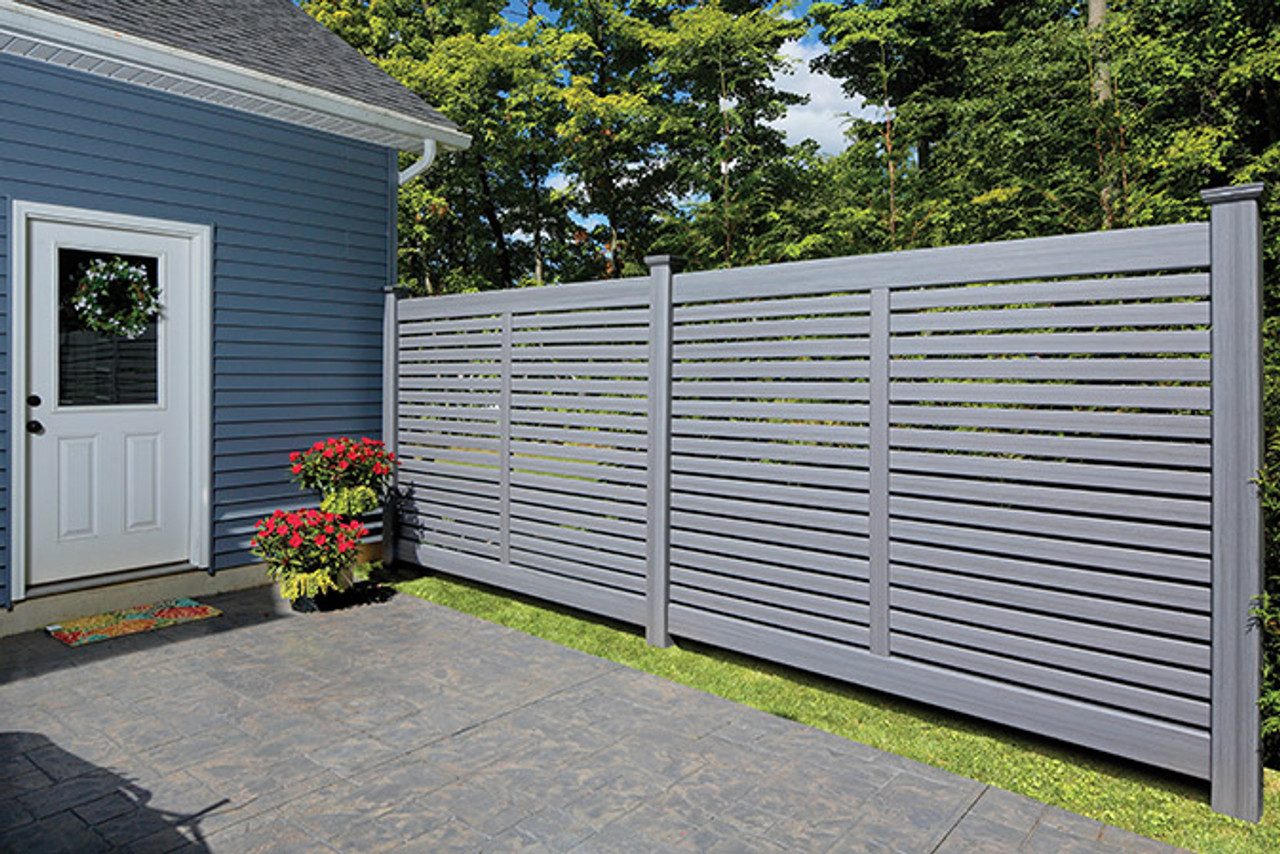 Bufftech Breezewood Semi-Private Fence with Arctic Blend Select Cedar Finish