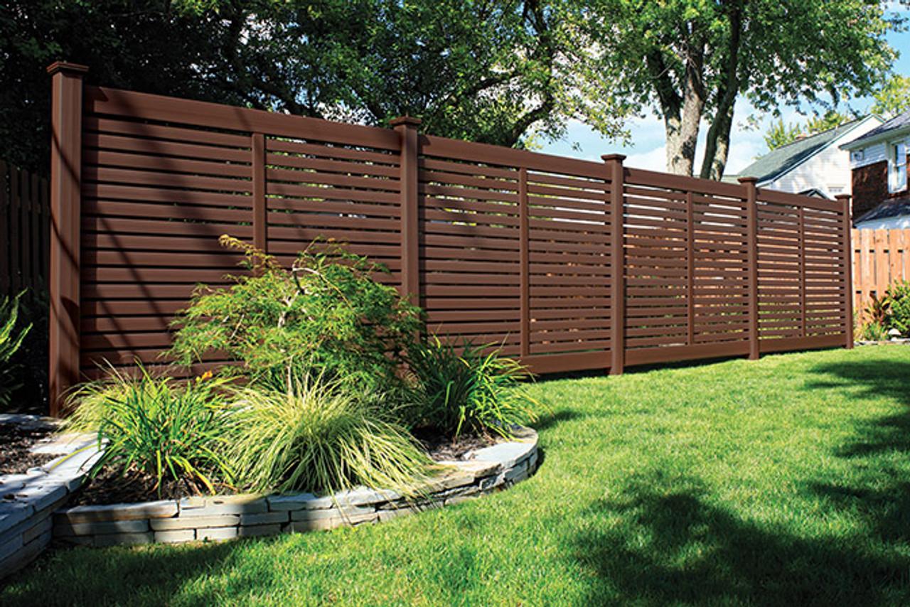 Bufftech Breezewood Semi-Private Fence with Brazilian Blend Select Cedar Finish