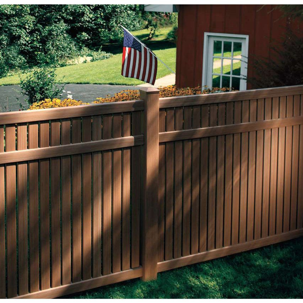 Bufftech Imperial Vinyl Fence w/ Select Cedar Textures